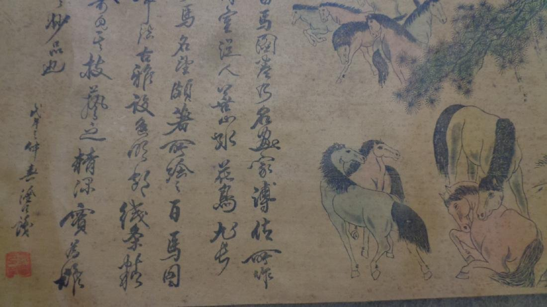"""Large Chinese Scroll.Long 147""""x12"""""""