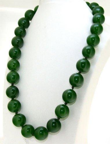 Natural Green Jade Necklace - 2