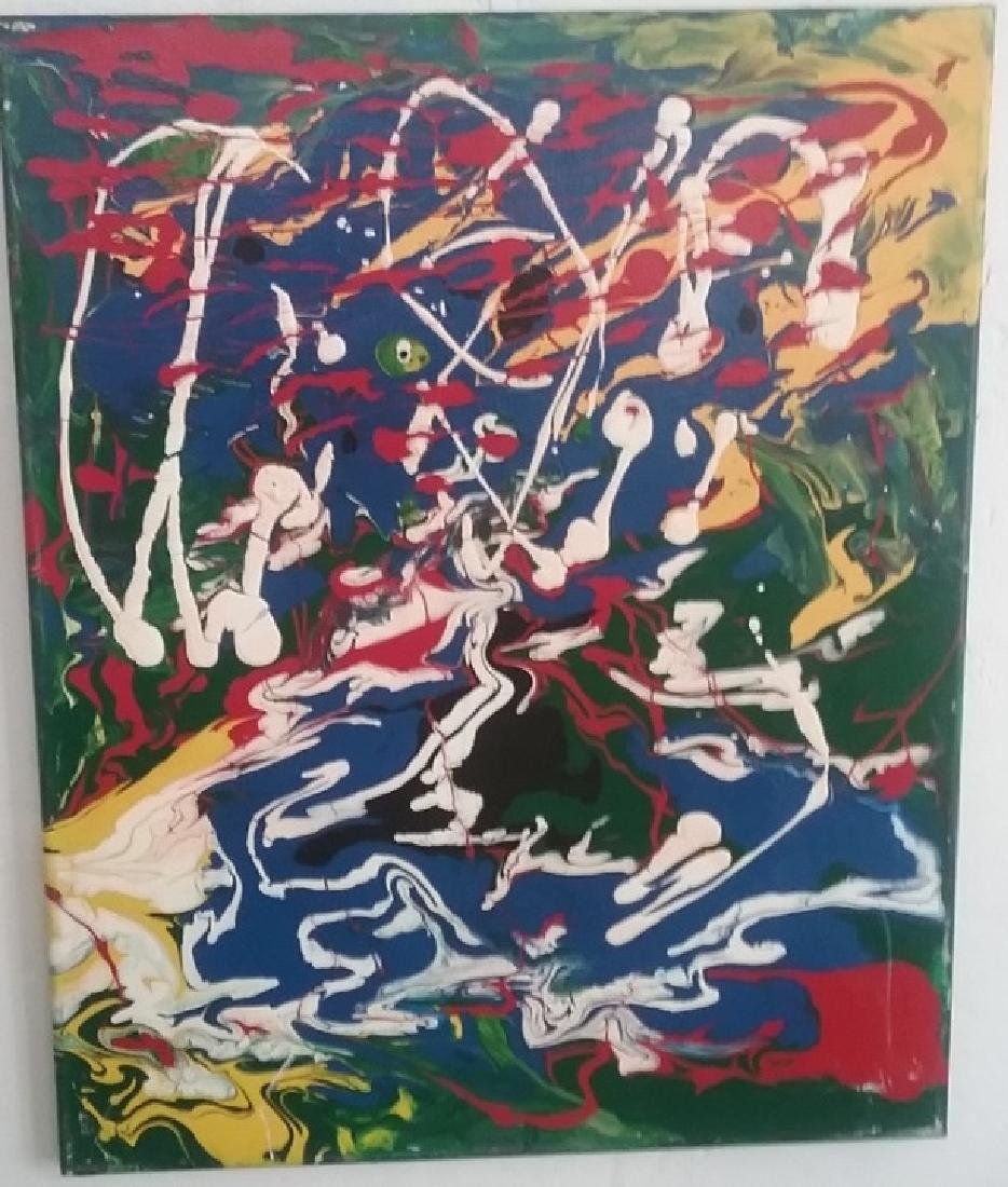 R Medina (1958 Ame) New York - Original Abstract
