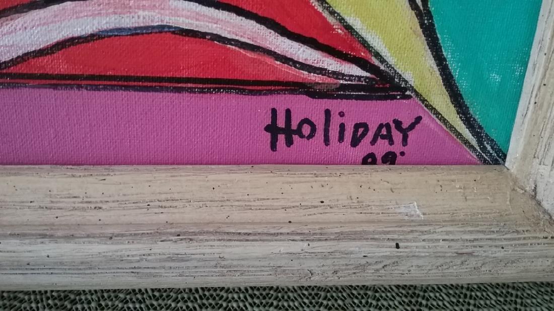 Joe Holiday hand painting signed - 2