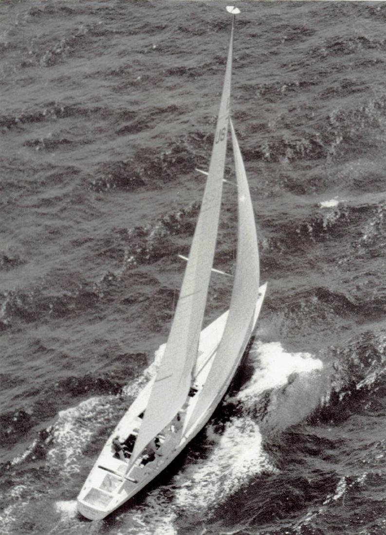 "1970 Racing yacht ""Intrepid"" sails on Long Island Sound"