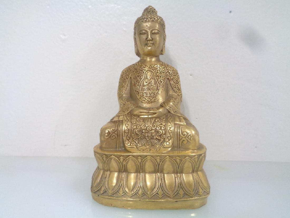 "Old Tibetan Buddha Statue Signed . Size:3""X 2 ""1/2 X 5"""