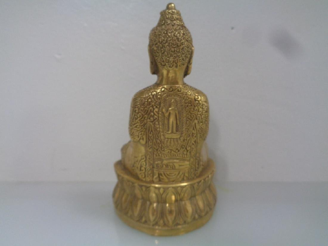 "Old Tibetan Buddha Statue Signed . Size:3""X 2 ""1/2 X 5"" - 2"
