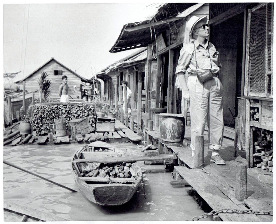 1956 Water boat docks Snok-Tru Cambodia-Photo