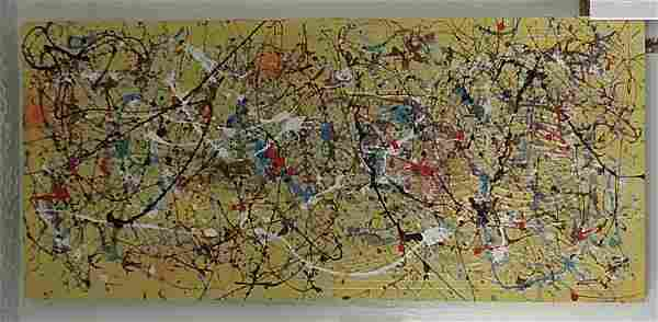 1951 Jackson Pollock Abstract Painting Signed