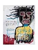 Jean- Basquiat Self Portrait Lithograph Print