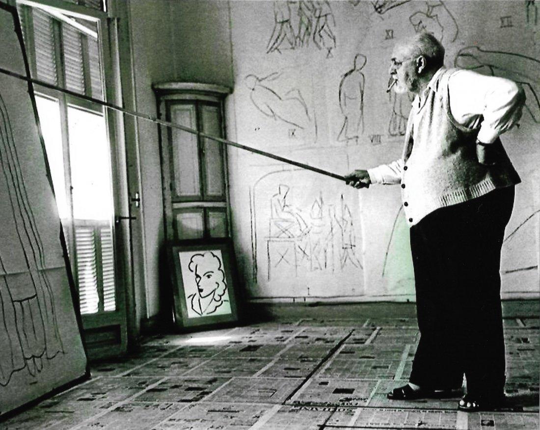 Self Portrait Black & White Henri Matisse in his studio