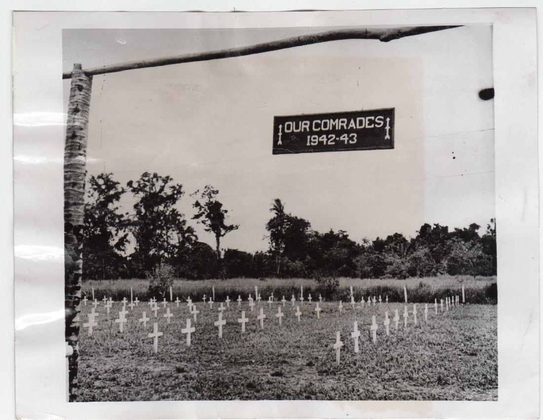 American Cemetery in New Guinea 1943 Original Press Pho