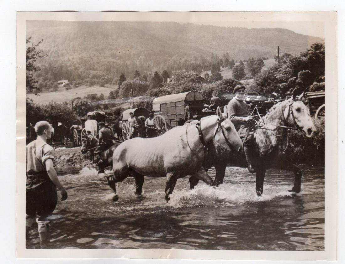 French Army Crossing Into Switzerland 1940 Original Pre