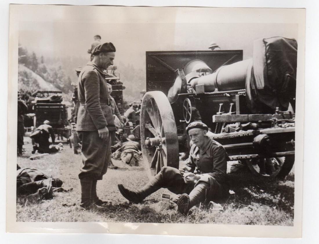 French Army in Switzerland 1940 Original Press Photo