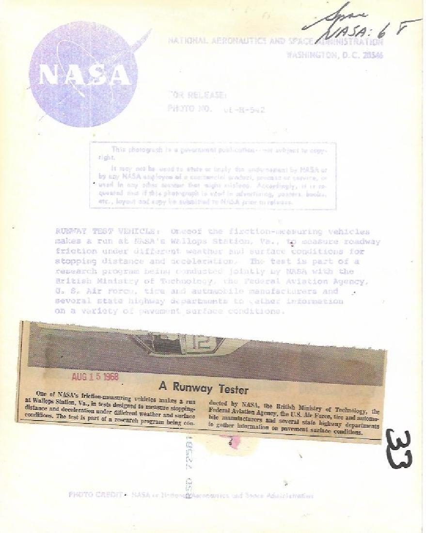 1968 Press Photo NASA Friction-Measuring Vehicle, Wallo - 2
