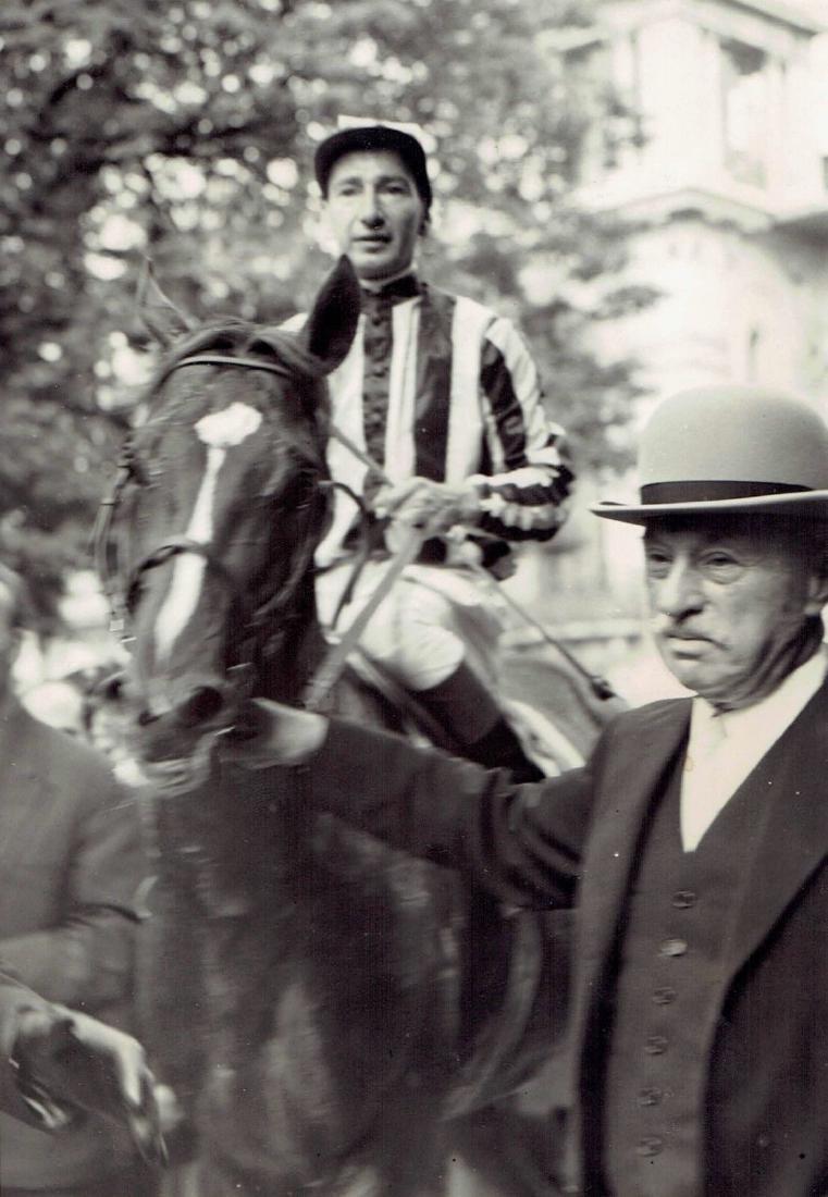 "B&W 1958 horse""San Roman""jockey R Poincelet Grand Prix"