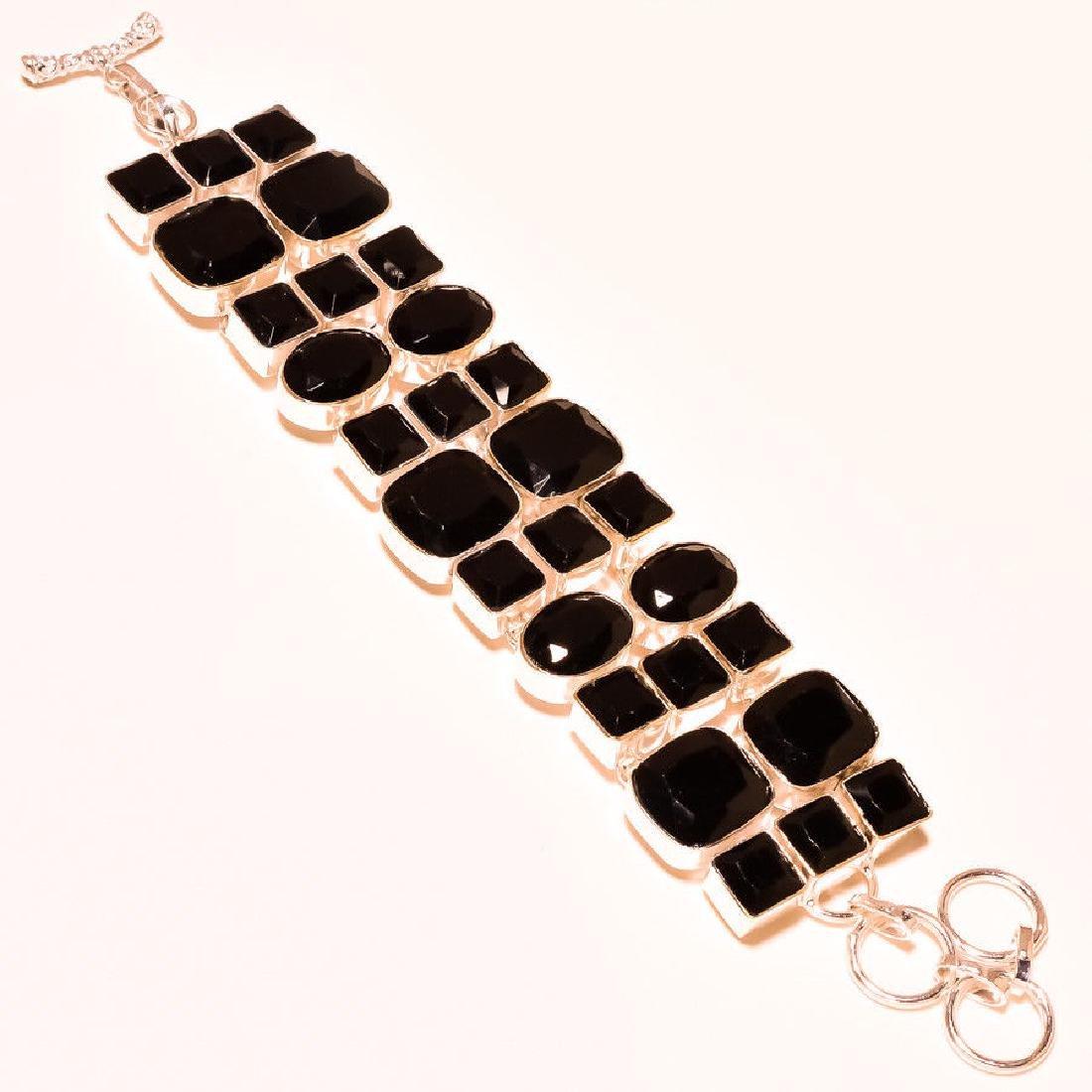 Black Spinel 925 Sterling Silver Bracelet