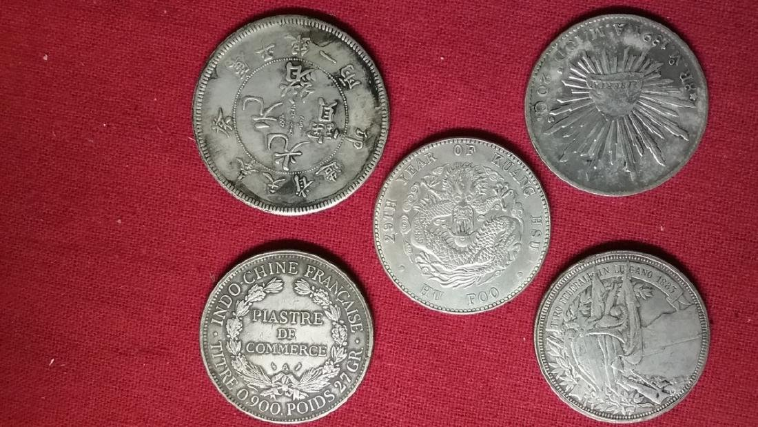 Lot of 5 Foreign Coins. - 2