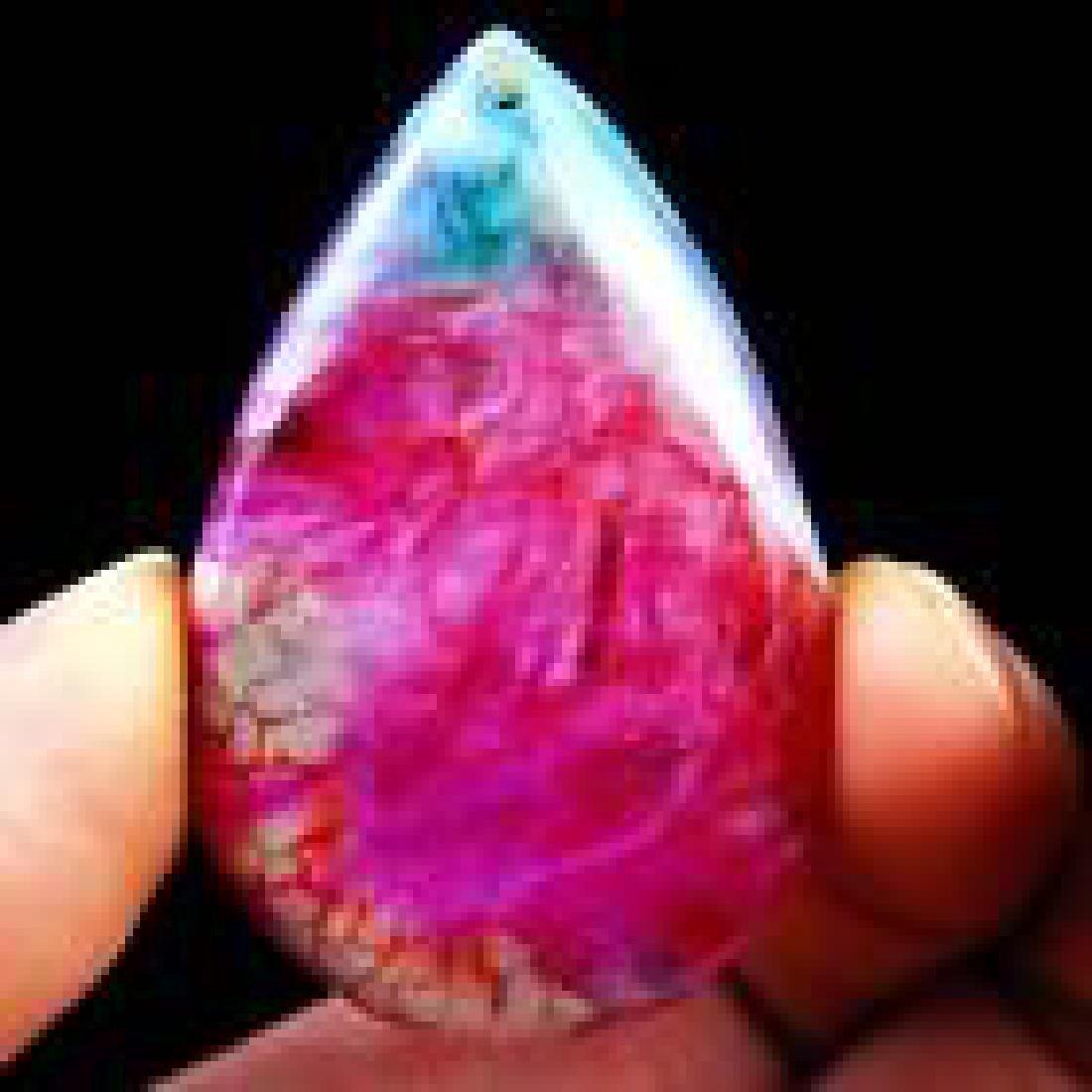 Waterdrop Rainbow Onyx Druzy Geode Agate pendant