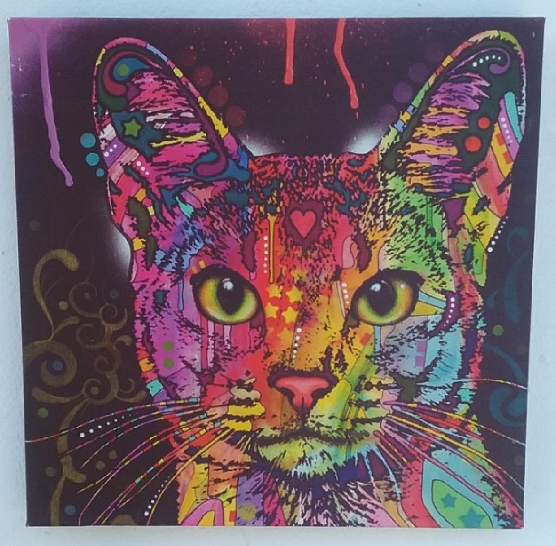 POP ART CAT GIGLEE ON CANVAS
