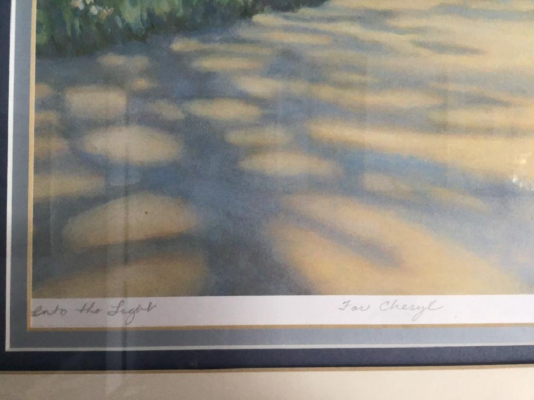 Dock/ Sailboat Landscaping Print Signed Jacqueline Penn - 3