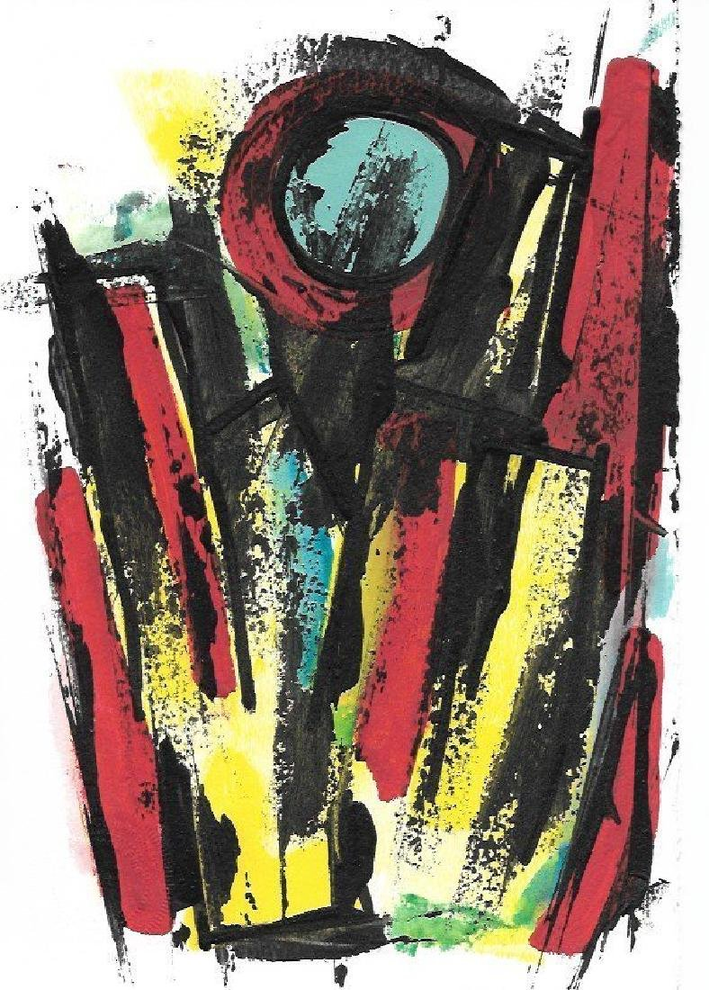 Original Abstract Geometric Expressionism Painting