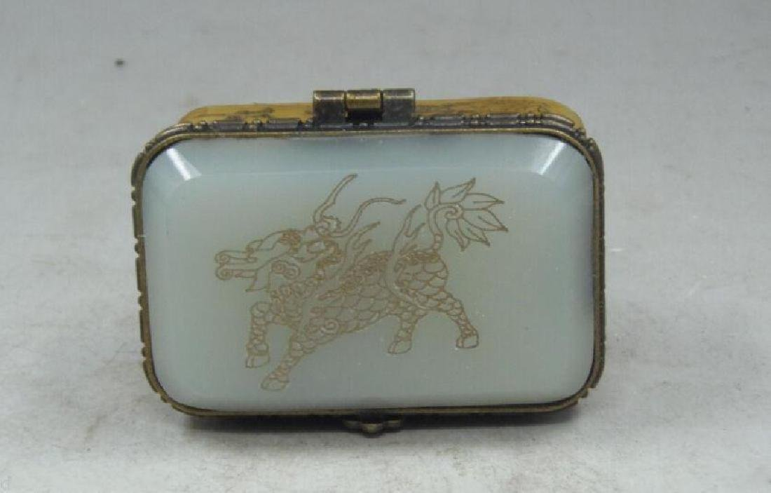 Old Bronze Dragon Dragons Foo Fu Dog Lion Incense Burne