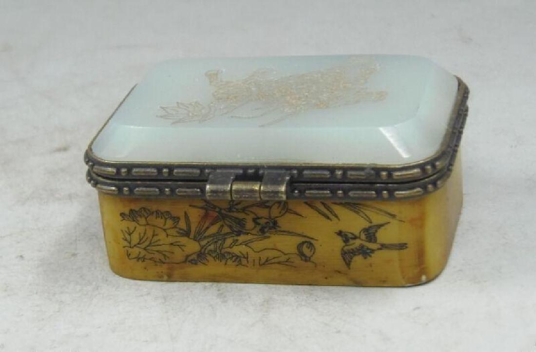 Old Bronze Dragon Dragons Foo Fu Dog Lion Incense Burne - 2