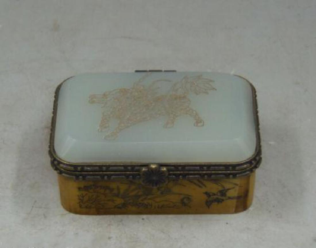 Old Bronze Dragon Dragons Foo Fu Dog Lion Incense Burne - 4