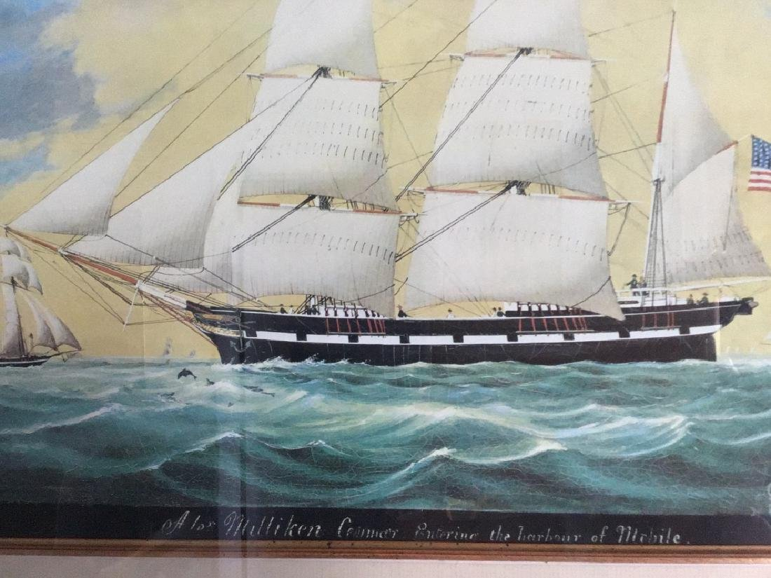 "Evans Lithograph Print "" The harbor Michile."" - 2"