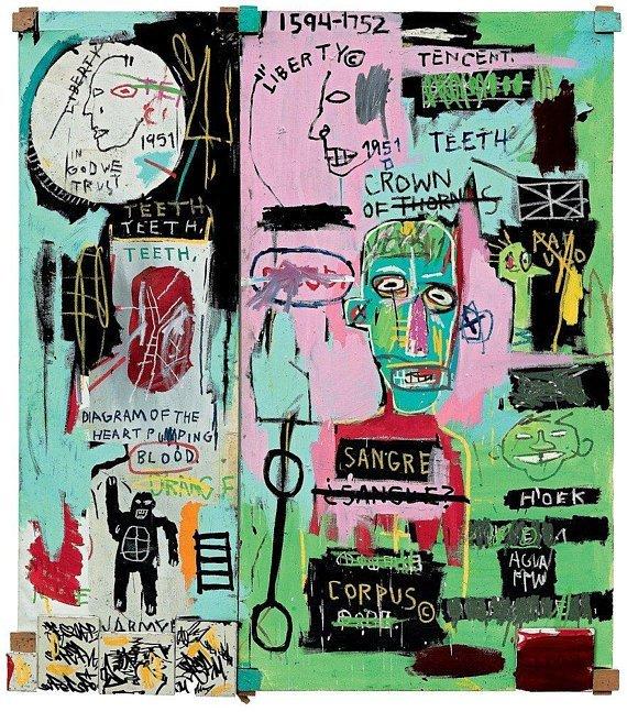Jean-Michel Basquiat In Italian, 1983