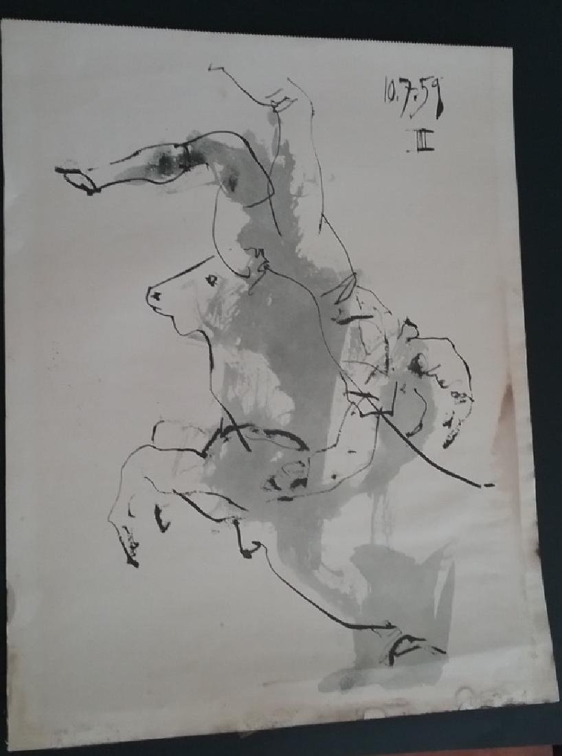 Watercolor Painting on Paper-Bulls Manifest