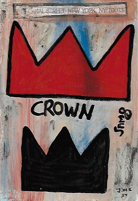 Jean-Michele Basquiat NYC Street Art Painting