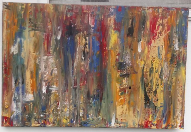 Original Abstract Modern Painting W New York. - 3