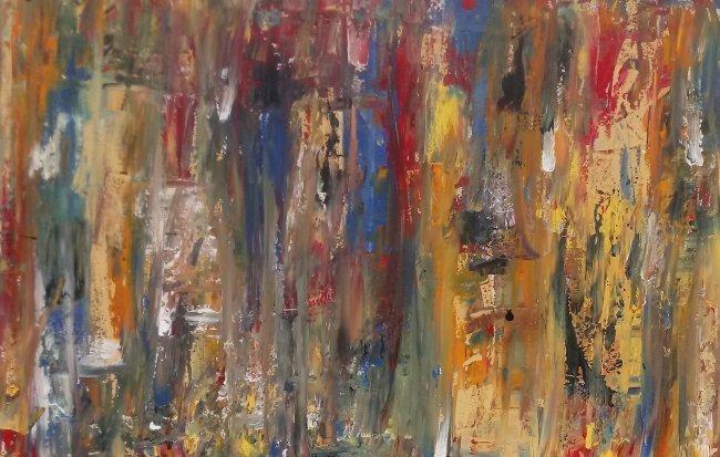 Original Abstract Modern Painting W New York. - 5