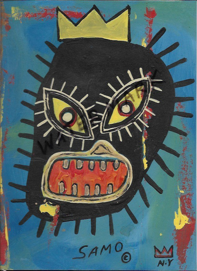 Jean Basquiat Art Paint on Paper
