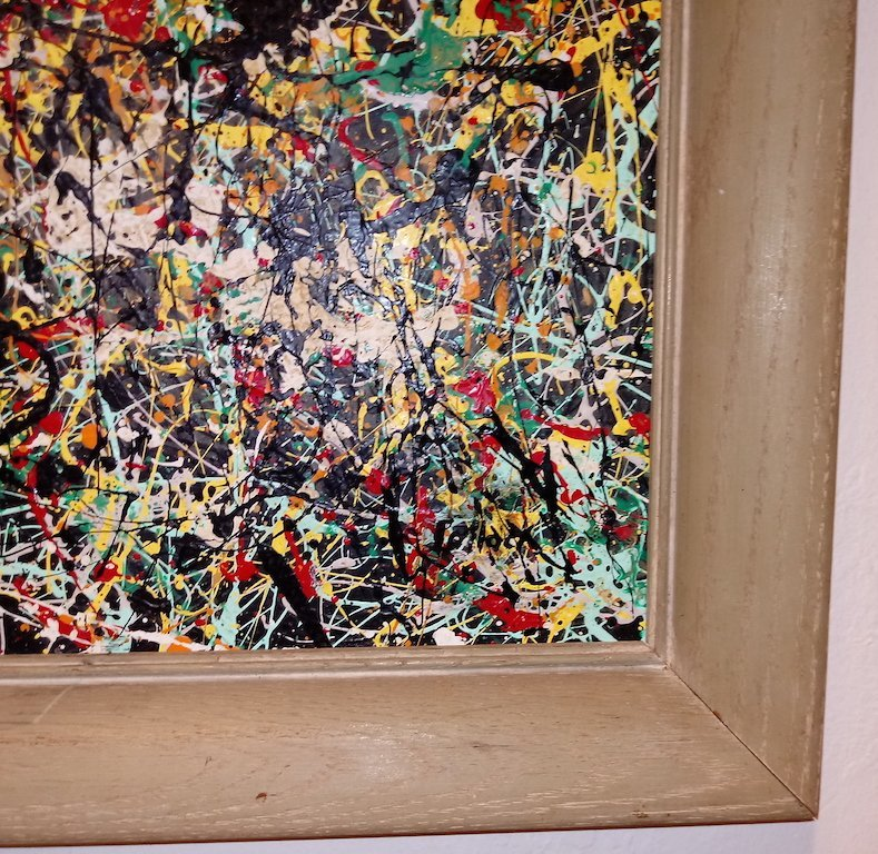 Jackson Pollock American Abstract Expressionist Canvas - 2