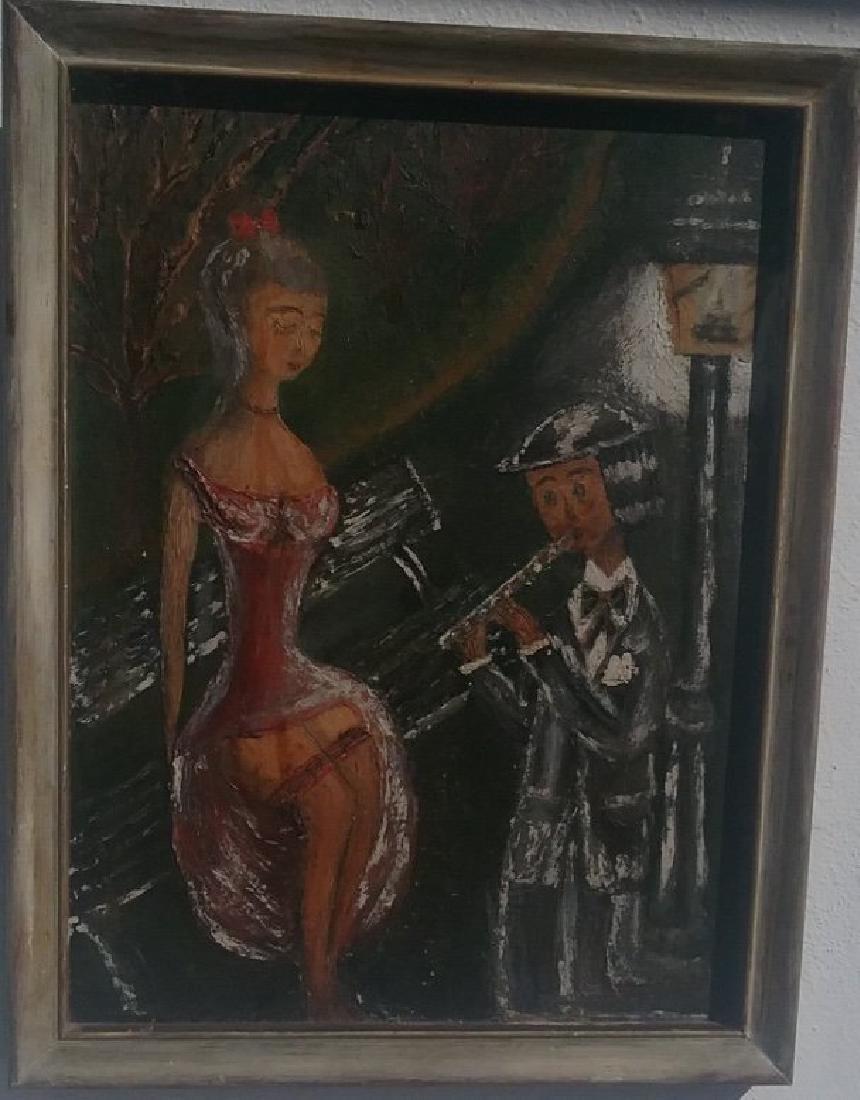 Original Art on Canvas Board - 2