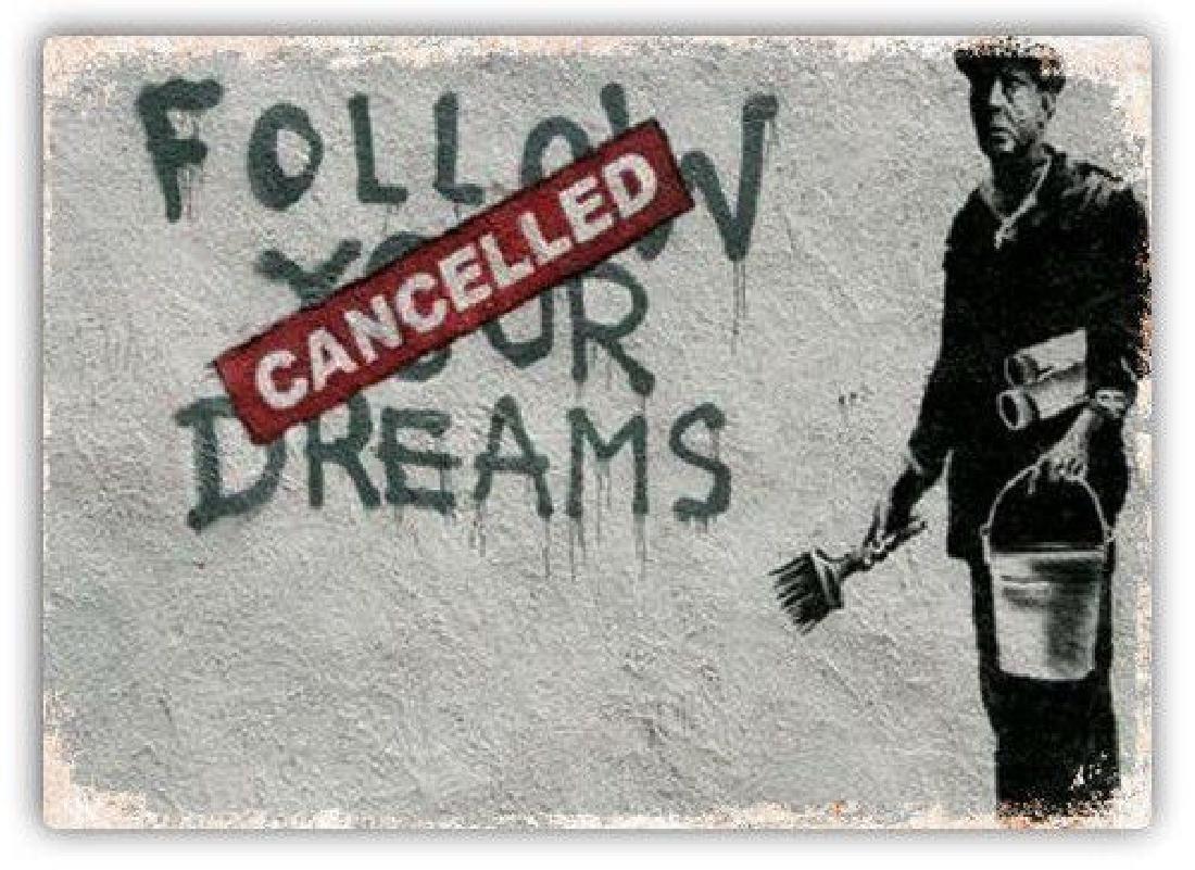 Metal Wall Sign Plaque Art Banksy Graffiti Street