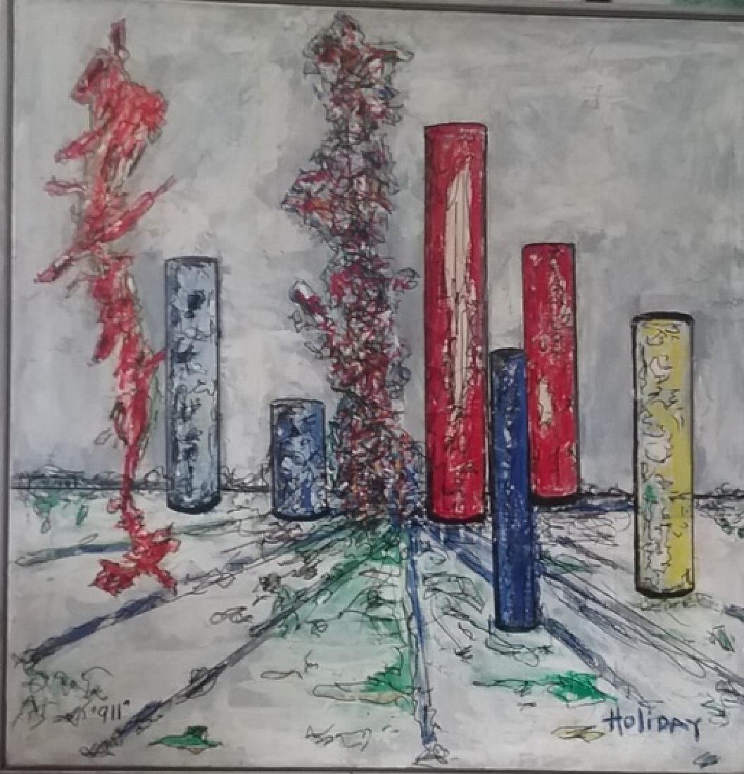 Original signed Holiday Acrylic on Canvas Painting