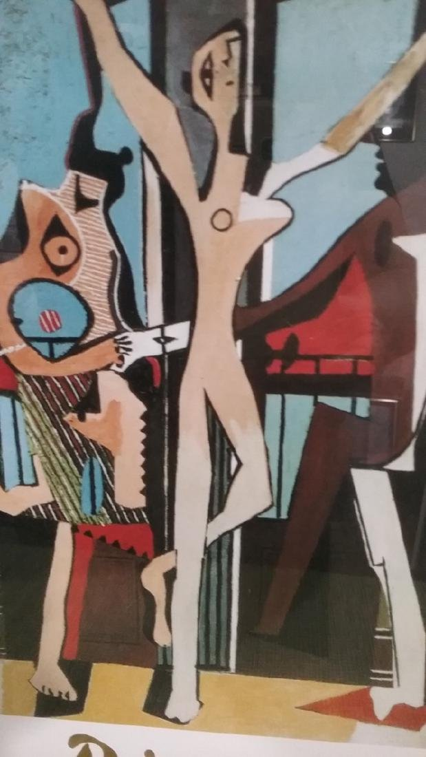 """Picasso Lithograph Print """"Three Dancers, c.1925 .Framed - 2"""
