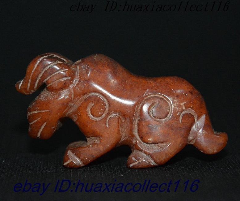 Natural Jade Hand-Carved Dragon Beast Kirin Statue