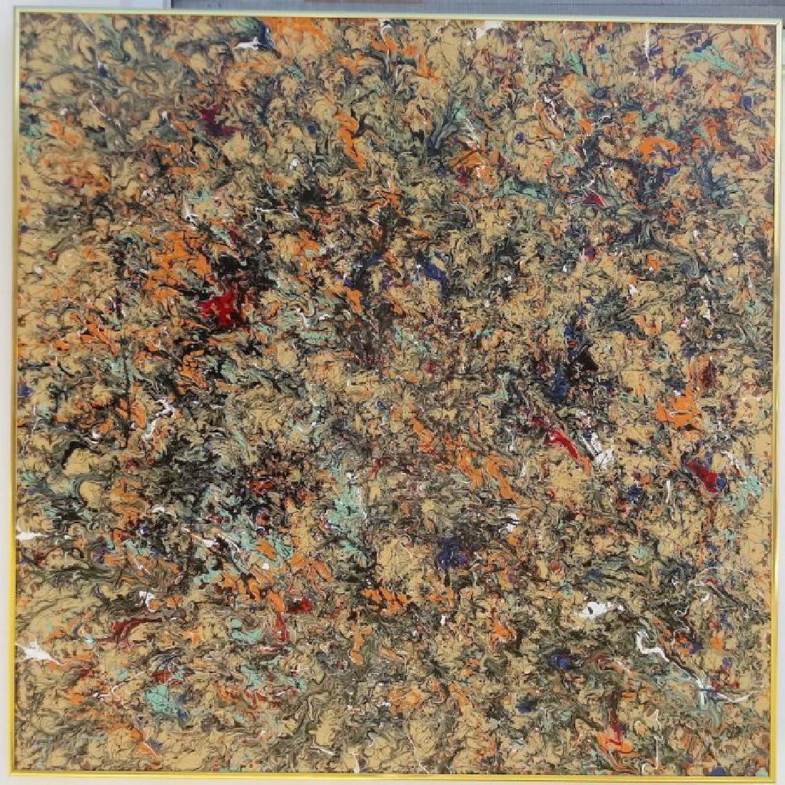 Original Abstract Modern Painting New York.