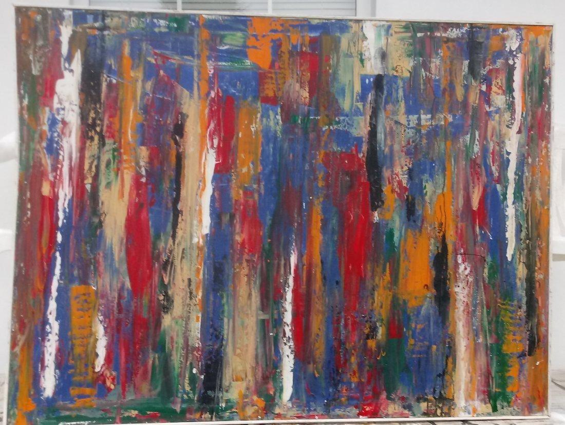 Original Abstract Modern Painting W New York.