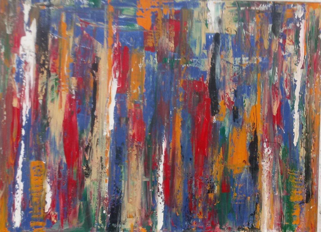 Original Abstract Modern Painting W New York. - 2