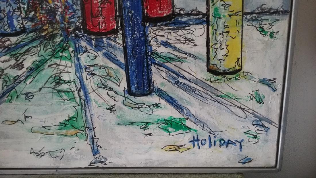 Original signed Holiday Acrylic on Canvas Painting - 2