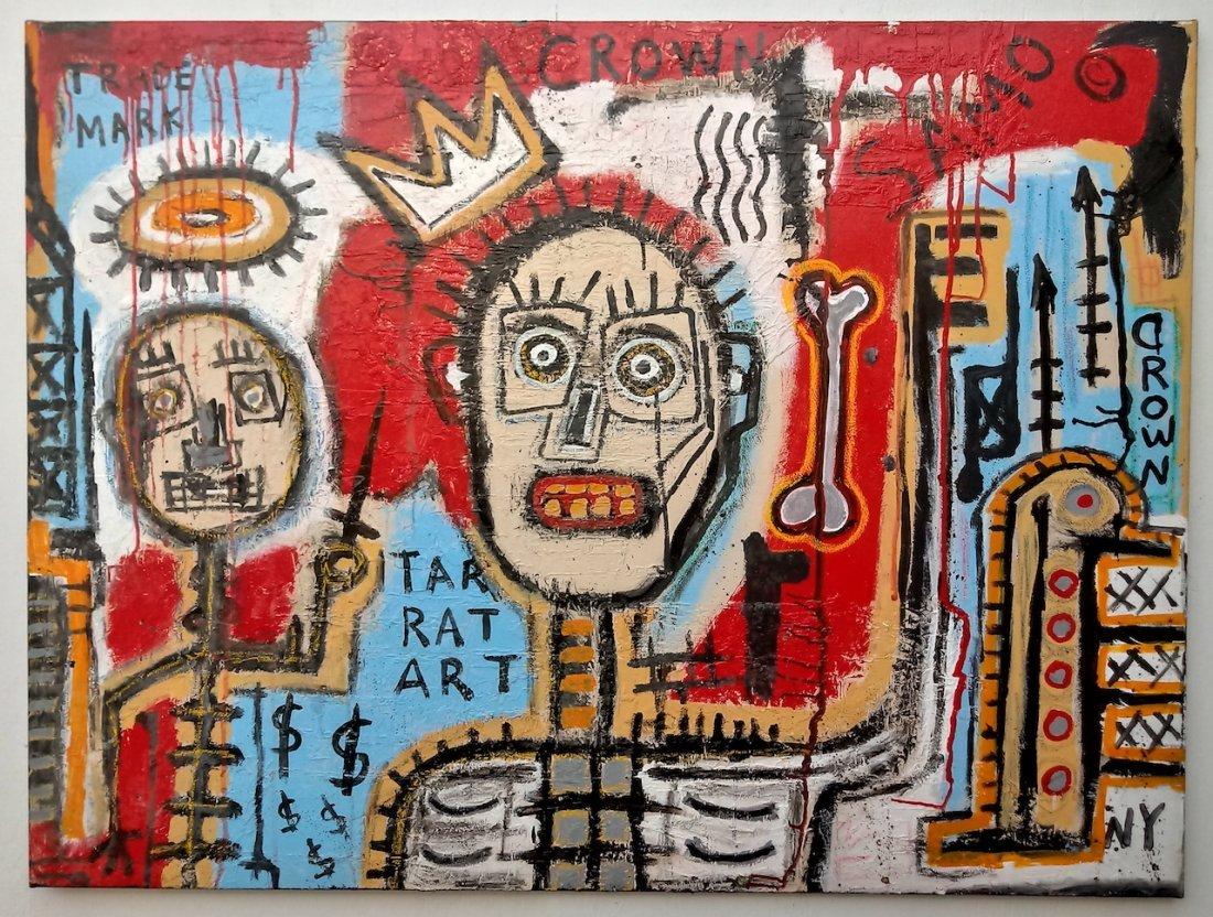 Jean-Michel Basquiat Style Street Art Painting