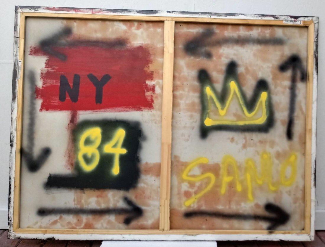 Jean-Michel Basquiat Style Street Art Painting - 4