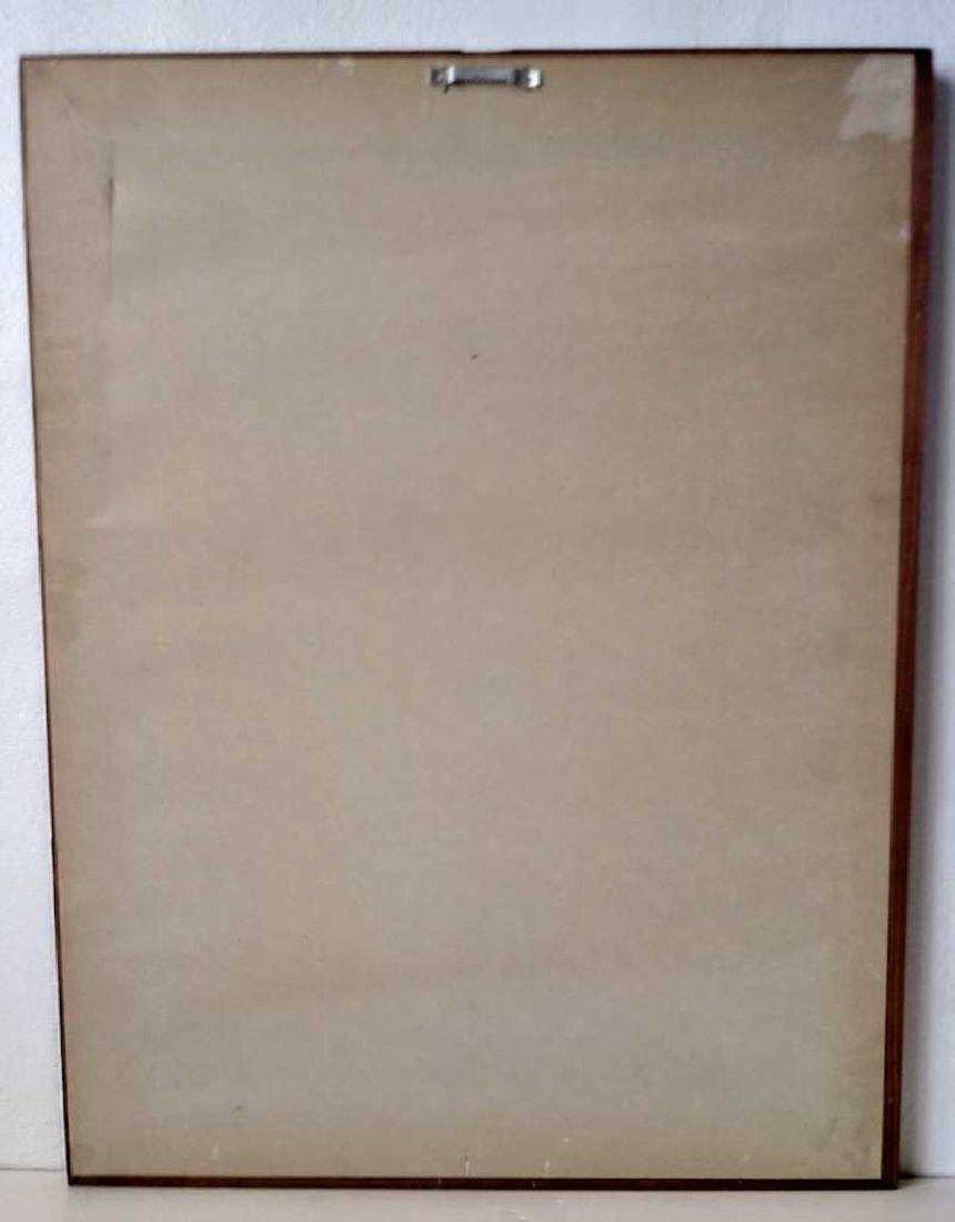 Antique Wood Frame Print W/Glass - 4