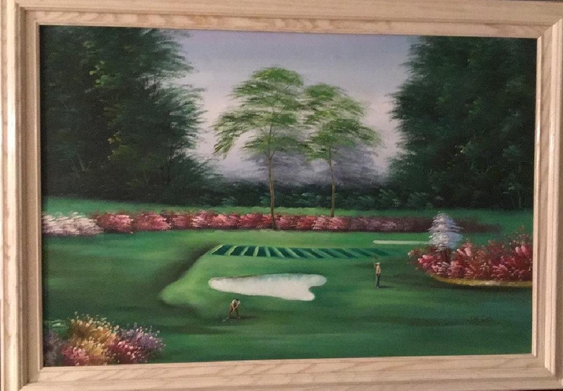 ORIGINAL HAND PAINTING ON CANVAS SIGNED JEFF CUNTIS
