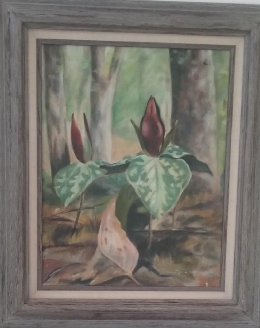 Origina Signed Acrylic Painting w/Wood Frame