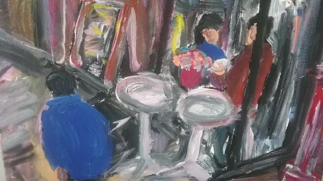 Original Street N York Impressionism Plain Air Painting - 3