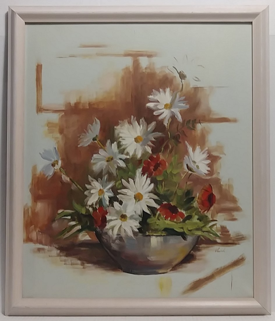 Bouquet of Flower Oil Painting on Canvas Signed