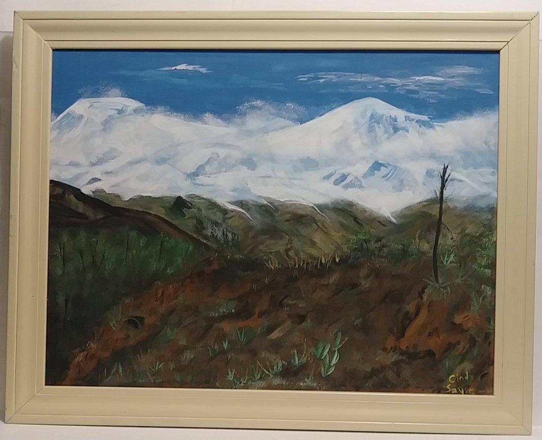 Original Landscape Oil Painting on Canvas Signed